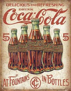 COCA COLA metal sign black bottle in hand vintage style coke ad soda pop Coca Cola Vintage, Pub Vintage, Vintage Signs, Ideas Vintage, Vintage Stuff, Vintage Industrial, Vintage Photos, Coca Cola Poster, Coca Cola Ad