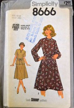 Simplicity 8666 bust 39 inches Plus Size from 1978 by GoofingOffSewing on Etsy