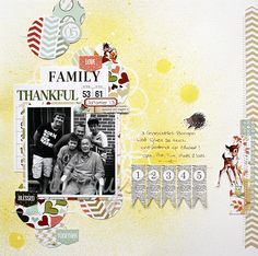 So thankful for family - Pretty Little Studio - Scrapbook.com