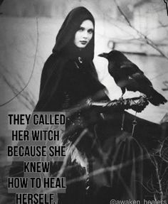 Heals herself