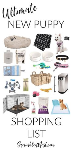 Ultimate new puppy shopping list by Sprinkled Nest Interiors #petsneeddesignertoo #pets #puppy #dogs #sprinklednest