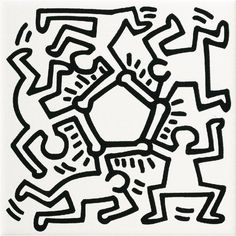 The tile series inspired by pop art of Keith Haring