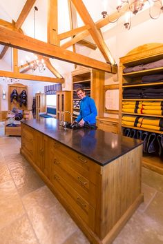 inside the organized tack room
