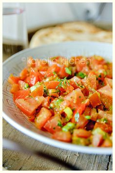 Moroccan Tomato Salad. Quick and easy, with seriously ridiculous flavor.