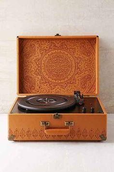 Crosley X UO AV Room Embossed Portable USB Vinyl Record Player - Urban Outfitters ($160.00)