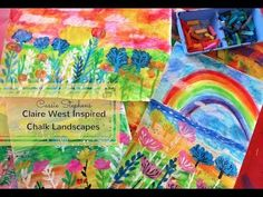 In the Art Room: Claire West-Inspired Landscape Lesson (Cassie Stephens) Kindergarten Art Lessons, Art Lessons For Kids, Art Lessons Elementary, Landscape Art Lessons, 2nd Grade Art, Fourth Grade, Second Grade, School Art Projects, Diy Projects