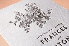 Elegance Illustrated Letterpress Wedding Invitations