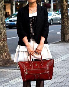 Kırmızı El Çantası www.fashionturca.com