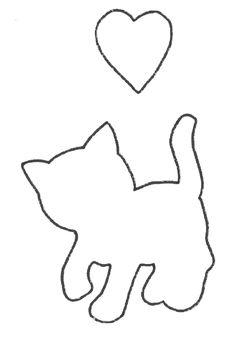 gabarit chat qui joue