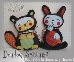 Beaver and Bunny Pattern