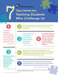 Teaching Students Who Challenge Us October 2012 Educational Leadership. My favorite is that teachers can sometimes correct misbehavior just by practicing random acts of kindness. Classroom Behavior, School Classroom, School Fun, School Stuff, Classroom Ideas, Teaching Strategies, Teaching Tips, Teacher Tools, Teacher Resources