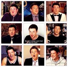 Cory Monteith you were so funny!<<<< incredibly sad he's not with us anymore , but he's always in our hearts Rachel And Finn, Lea And Cory, Glee Cast, It Cast, Finn Glee, Glee Memes, Netflix, Finn Hudson, Cory Monteith