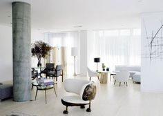 Amazing Modern Apartment Interior Layout Designed by Richard Meier - The Glass Towers