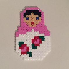 Matryoshka hama mini beads by stuffbylina
