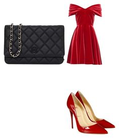 """Rose on a date"" by meanbarbie ❤ liked on Polyvore featuring Emilio De La Morena, Christian Louboutin and Chanel"