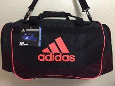 ADIDAS Defense Medium Duffel Unisex Gym bag luggage Black Dark Red Solar  Red. bb1c6005b371e