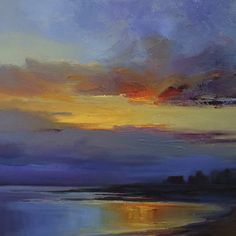 """Dawn in Blue"" by Holly Ready. People's Choice #2.  16"" x 16"" Oil on Linen.  Available at Maine Art Paintings & Sculpture."