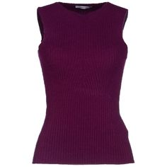 Gentryportofino Sweater ($82) ❤ liked on Polyvore featuring tops, sweaters, shirts, garnet, v neck sleeveless top, v neck sweater, no sleeve shirts, purple sweater and shirts & tops