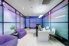 Office Interior Violet