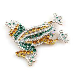 Frog Brooche ~ Topaz Emerald. $27.90