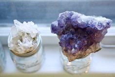 amethyst and quartz