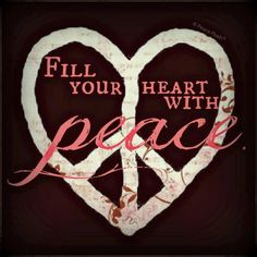 Heart for Peace ~ Peace is on our family's holiday wish list, for our world.