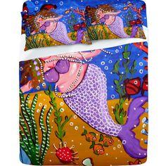 Renie Britenbucher Purple Mermaid Sheet Set