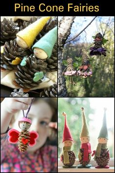 How cute are these little pine cone fairies!