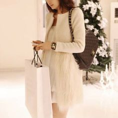 Find More Wool & Blends Information about Hot ! 2014 New Brand Warm Faux Fur wool Blend Hem Stitching Plush O Neck Winter Coat For Women,Tops Outerwear Women's WT4441,High Quality coates ink,China coats 850 Suppliers, Cheap coat spring from Honey Co. Ltd. on Aliexpress.com