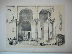 Porch of an antient Mosque, Cordova. Litografía de 1837 del artista David Roberts