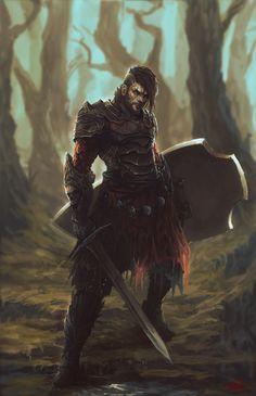 Mercenary by Peter Ortiz. ArtStation
