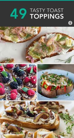 Try everything from satisfying breakfasts to savory dinners (and dessert!) #toast #recipes #avocado