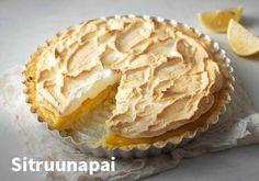 Sitruunapai, Resepti: Valio #kauppahalli24 #reseptit #jälkiruoka #sitruunapai #verkkoruokakauppa #ruokaanetistä