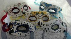 Máscaras pintadas a mano personalizada día de los muertos
