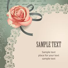 free vector Vintage rose card text template vector 1