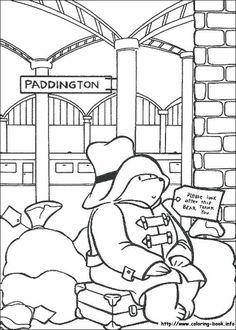 Paddington Bear coloring picture