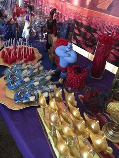 Kimberly F's Birthday / Aladdin/ Genie party - Photo Gallery at Catch My Party Aladdin Birthday Party, Aladdin Party, 5th Birthday Party Ideas, Arabian Party, Arabian Nights Party, Disney Princess Party, Princess Jasmine, Aladdin Wedding, Jasmine Party