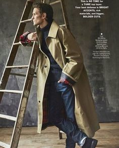A Doctor a day/Matt Smith in December 2017 issue of Esquire