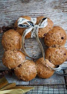 recipe by Ina-Janine Johnsen Stuffed Mushrooms, Muffins, Baking, Vegetables, Breakfast, Christmas, Recipes, Pastries, Stuff Mushrooms