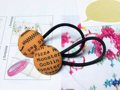 Check out this item in my Etsy shop https://www.etsy.com/listing/245665960/button-ponytail-holders-halloween