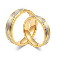 1 Material: gold Titanium steel 2 Style: fine simple 3 Gender: Unisex 4 Occasion: party / wedding