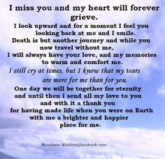 I miss you more than there are words enough to explain