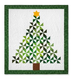 Quilting Ideas Christmas Tree Quilt - Christmastime is full of magic, even for quilters! Watch as Jenny transforms a simple pack of green squares into TWO gorgeous Christmas tree quilts! If that's not magic, I do Christmas Patchwork, Fabric Christmas Trees, Christmas Quilt Patterns, Christmas Wall Hangings, Christmas Sewing, Christmas Quilting, Christmas Tree Quilted Wall Hanging, Christmas Bingo, Christmas Tables