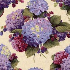 hydrangea fabric by the yard - Google Search