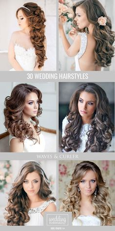Wedding Hairstyles For Long Hair Wedding hairstyles for long hair gallery of the prettiest braids, fishtails, chignons and of course all-popular half up half down hairstyles expert tips! Retro Wedding Hair, Long Hair Wedding Styles, Wedding Hair And Makeup, Bridal Hair, Long Hair Styles, Chic Wedding, Dream Wedding, Crazy Wedding, Wedding Ideas