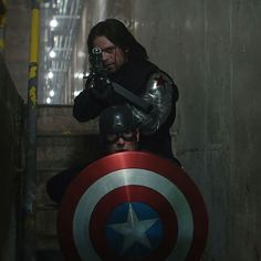 Bucky and Captain America