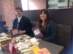 Making pop-up valentines at Uni. of Iowa Special Collections!