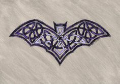 Knotwork bat by spookyt5 Celtic Symbols, Celtic Art, Celtic Knots, Cthulhu, Celtic Animals, Totenkopf Tattoos, Celtic Knot Designs, Cute Bat, Celtic Patterns