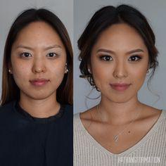 Makeup, bridal makeup, Asian makeup, natural makeup, before and after, OC makeup artist, Asian makeup