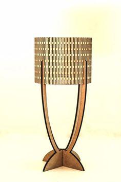 Laser cut 5 piece lamp.9mm MDF.